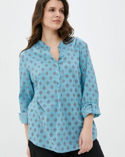 Бирюзовая блузка с длинными рукавами Rosa Thea
