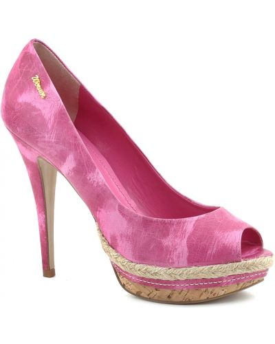 Розовые туфли на танкетке Werner
