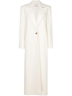 Шерстяное белое пальто Khaite