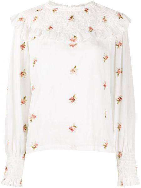 С рукавами белая блузка с манжетами Masscob