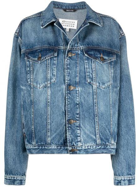 Хлопковая джинсовая куртка - синяя Maison Margiela