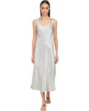 Платье миди сатиновое с рукавами Max Mara