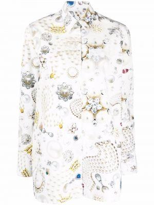 Biała koszula bawełniana Viktor & Rolf