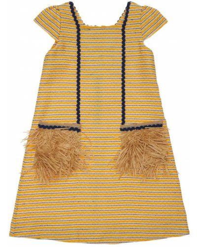 Бежевое платье с подкладкой жаккардовое Mi.mi.sol.