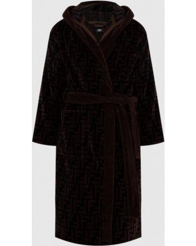 Махровый халат - коричневый Fendi