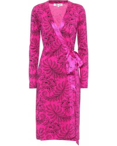 Платье розовое с запахом Diane Von Furstenberg