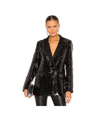 Черный пиджак с подкладкой из вискозы с лацканами Anine Bing