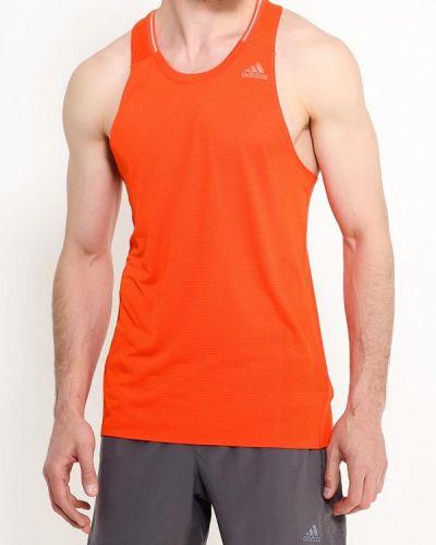 Оранжевая спортивная майка Adidas