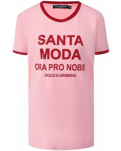 Футболка с надписями хлопковая Dolce & Gabbana