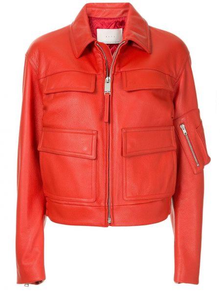 Красная кожаная куртка на молнии 1017 Alyx 9sm
