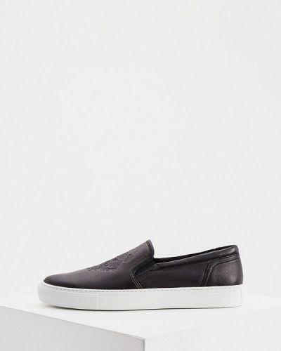 Черные кожаные эспадрильи Kenzo