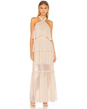 Платье макси с оборками с подкладкой Kendall + Kylie