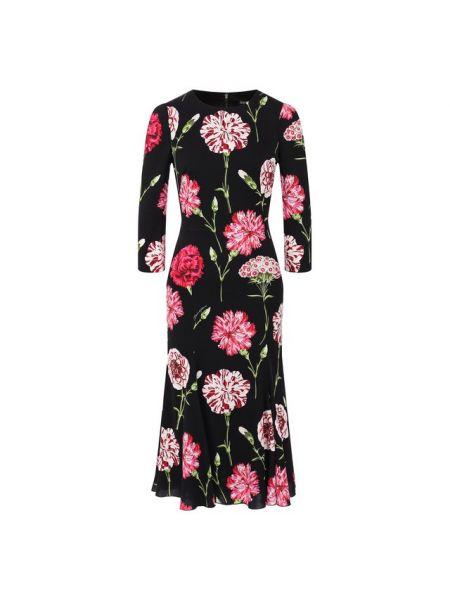 Платье шелковое черное Dolce & Gabbana
