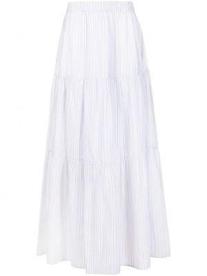 Серая с завышенной талией юбка макси в полоску Fabiana Filippi