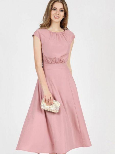 Повседневное платье розовое осеннее Olivegrey