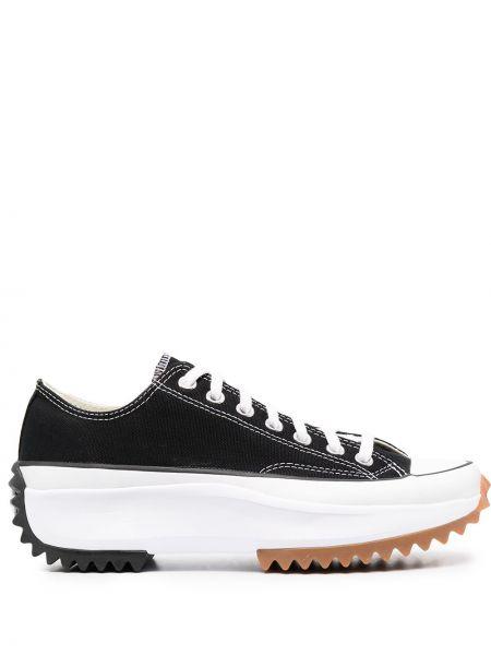Черные высокие кеды на шнуровке Converse