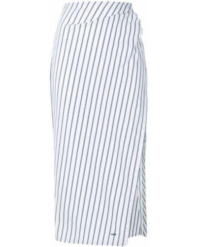 Юбка миди в полоску со шлицей Off-white