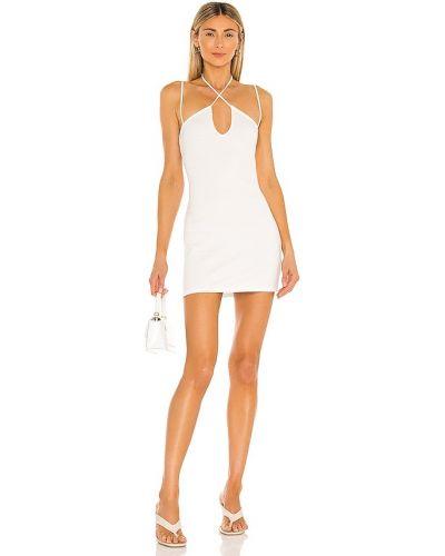 Трикотажное платье мини айвори H:ours