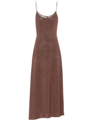 Платье миди с завышенной талией в рубчик Rixo