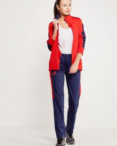 Костюмный красный спортивный костюм Asics