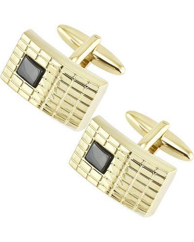 Запонки из золота золотой Brice