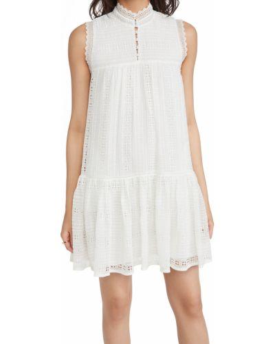 Шелковое платье без рукавов с декольте Rebecca Taylor