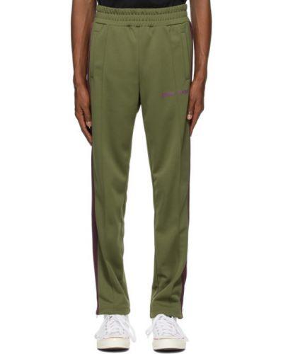 Zielony spodnie wojskowy z kieszeniami Palm Angels