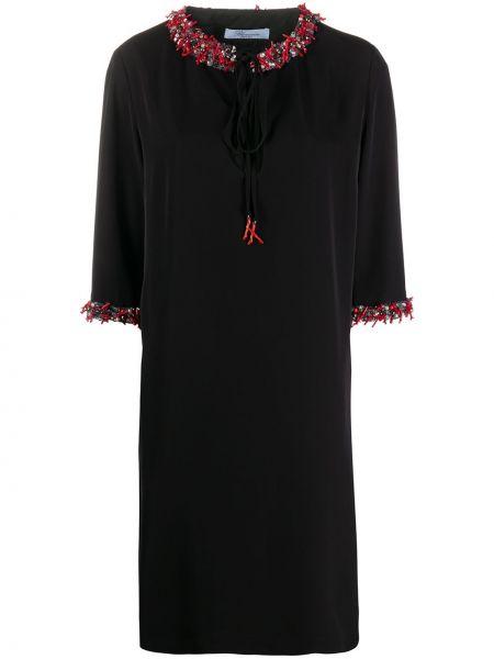 Платье мини короткое - черное Blumarine