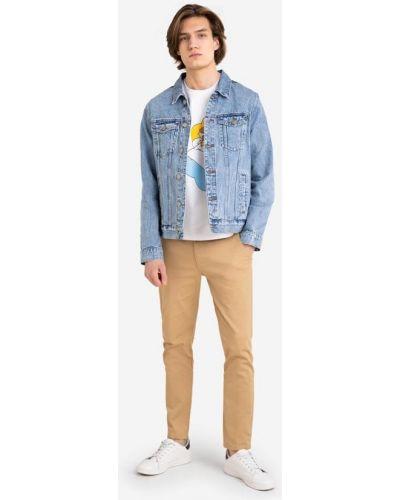 Прямая джинсовая куртка с воротником с карманами Gloria Jeans