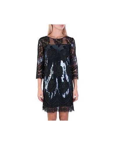 Вечернее платье с пайетками черное Patrizia Pepe