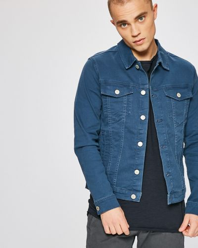Джинсовая куртка утепленная на пуговицах Jack & Jones