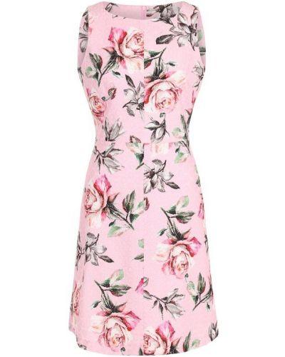 Платье мини с цветочным принтом приталенное с перфорацией Weill