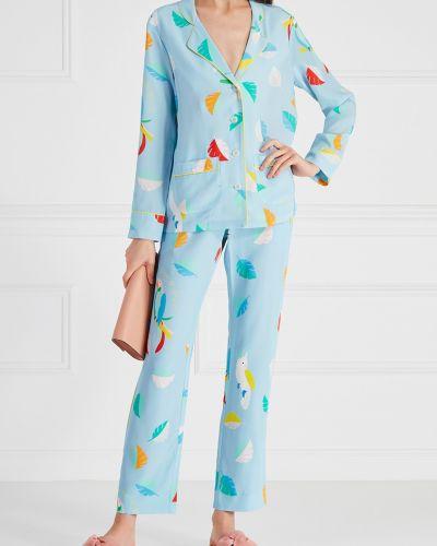 Пижама с брюками бархатная с карманами Mira Mikati