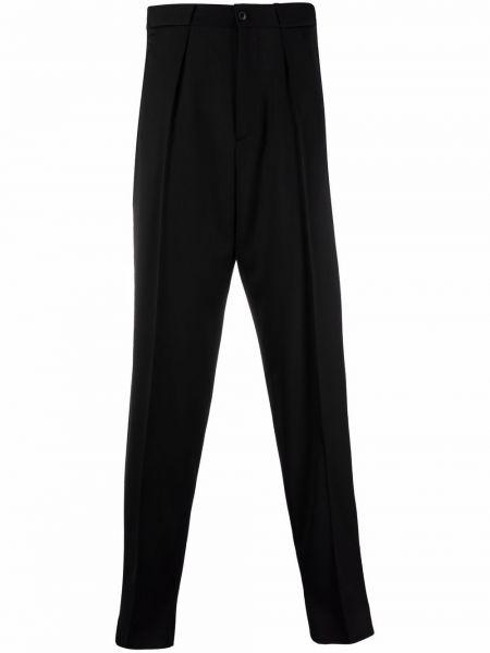 Czarne spodnie wełniane Giorgio Armani