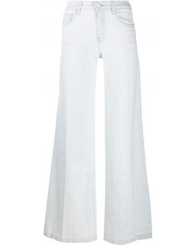Свободные белые широкие джинсы на молнии J Brand