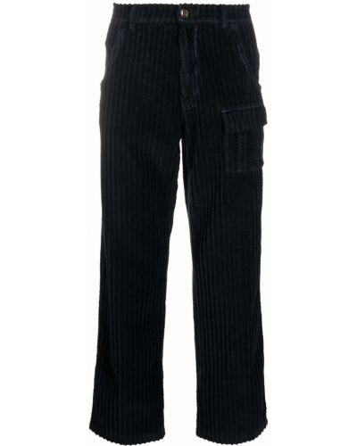 Czarne spodnie z paskiem Erl