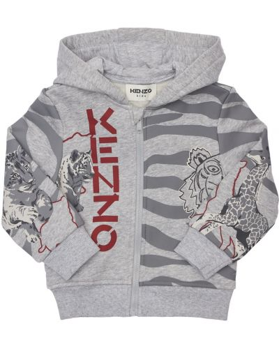 Флисовое худи Kenzo Kids