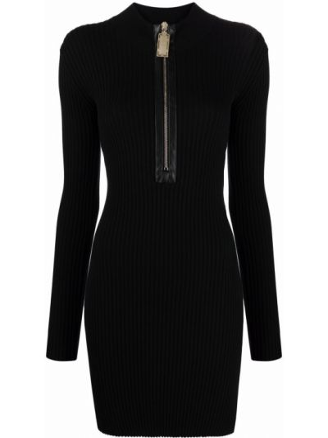 Черное платье с длинными рукавами Elisabetta Franchi