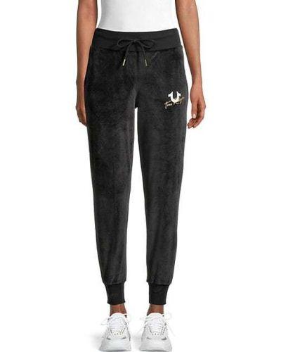 Черные брюки с карманами с манжетами True Religion