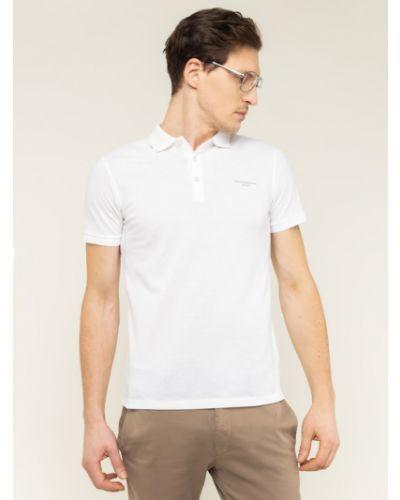 Biała koszulka Baldessarini