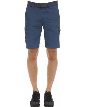 Синие шорты карго с карманами с пряжкой Columbia