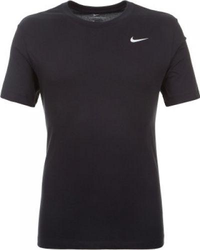 Спортивная футболка хлопковая черная Nike