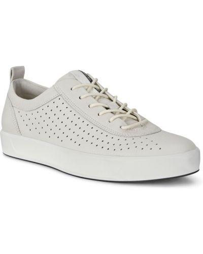 Кеды белые кожаный Ecco