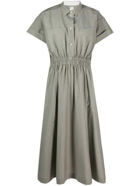 Шелковое платье макси - зеленое Paul Smith