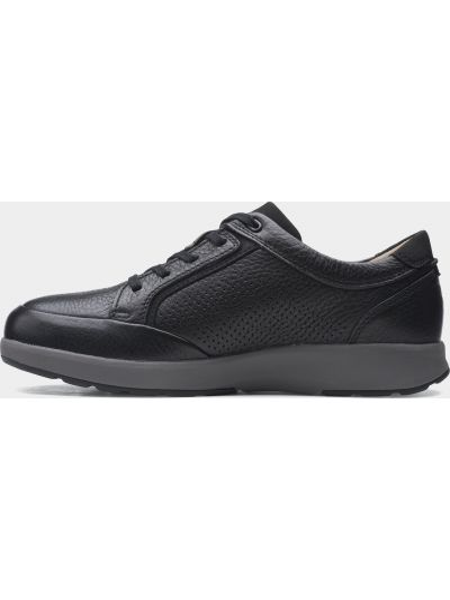 Черные кожаные полуботинки на шнуровке Clarks