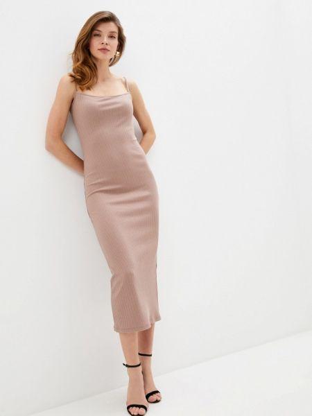 Платье платье-комбинация бежевое Trendyangel