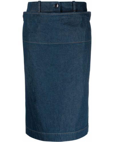 Spódnica jeansowa - niebieska Lemaire
