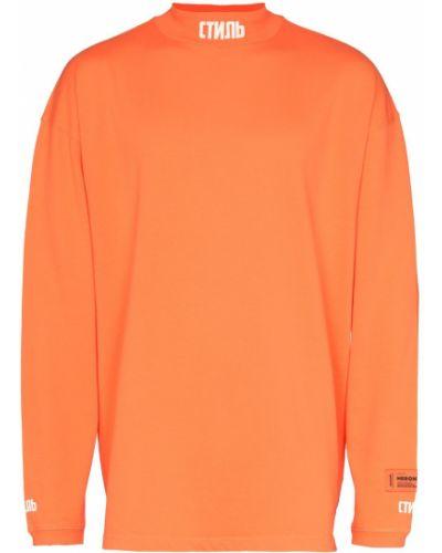 Оранжевая водолазка Heron Preston