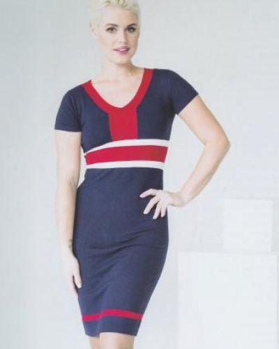 Мягкое с рукавами платье мини с вырезом Vis-a-vis