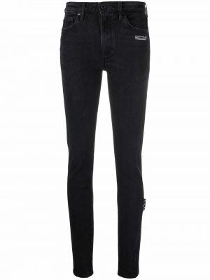 Зауженные джинсы с завышенной талией - белые Off-white